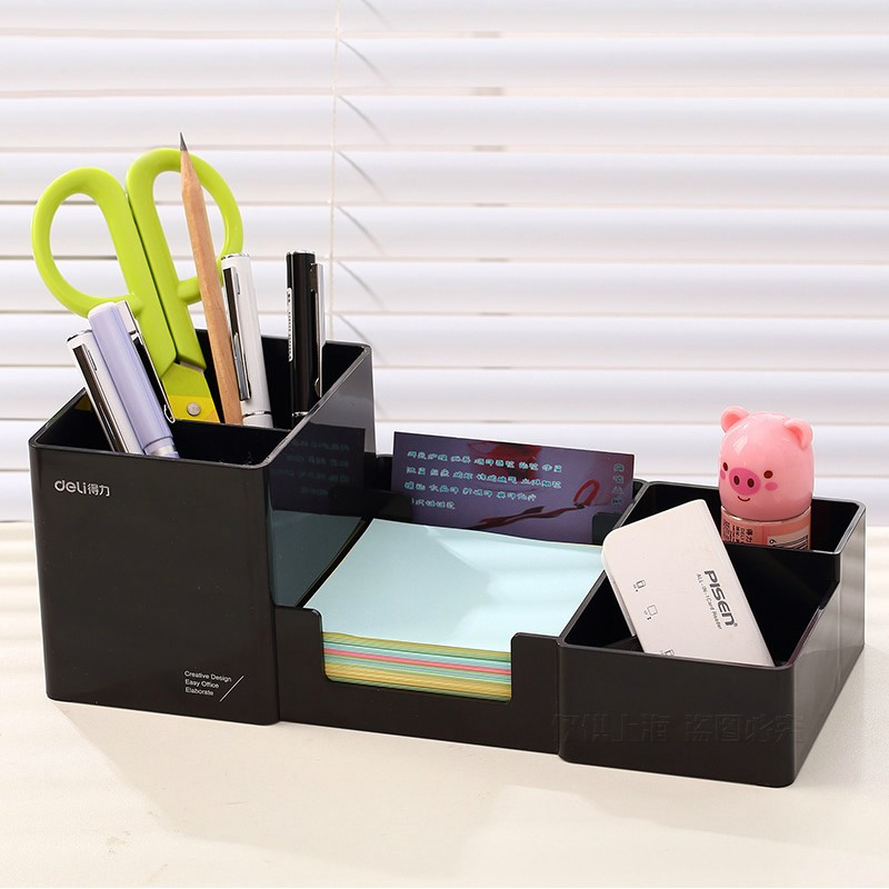 Cute Fashion Plastic Pen Holder Pencil Container Office School Supplies Korea Stationery deli 9118 deli 9145 stylish pc pencil pen holder deep pink wood