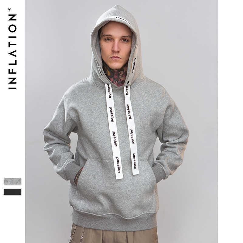 Sudadera con capucha Hip Hop con estampado de letras de Passio inflado ropa de calle con capucha para hombres y sudaderas calle alta 8781W