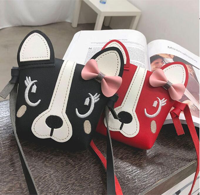 Mini Cartoon Dog Handbag For Little Girls Lovely Cute Crossbody Shoulder Bags Coin Purse Messenger Bag