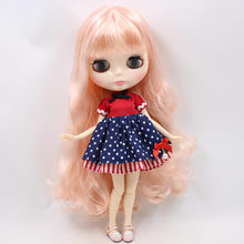 Factory Neo Blythe Doll Coral Hair Jointed Body 30cm