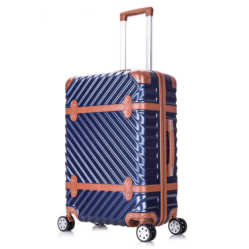 Men and Women Business Trolley Luggage Vintage Travel Suitcase Universal Wheels Trolley Luggage Bag