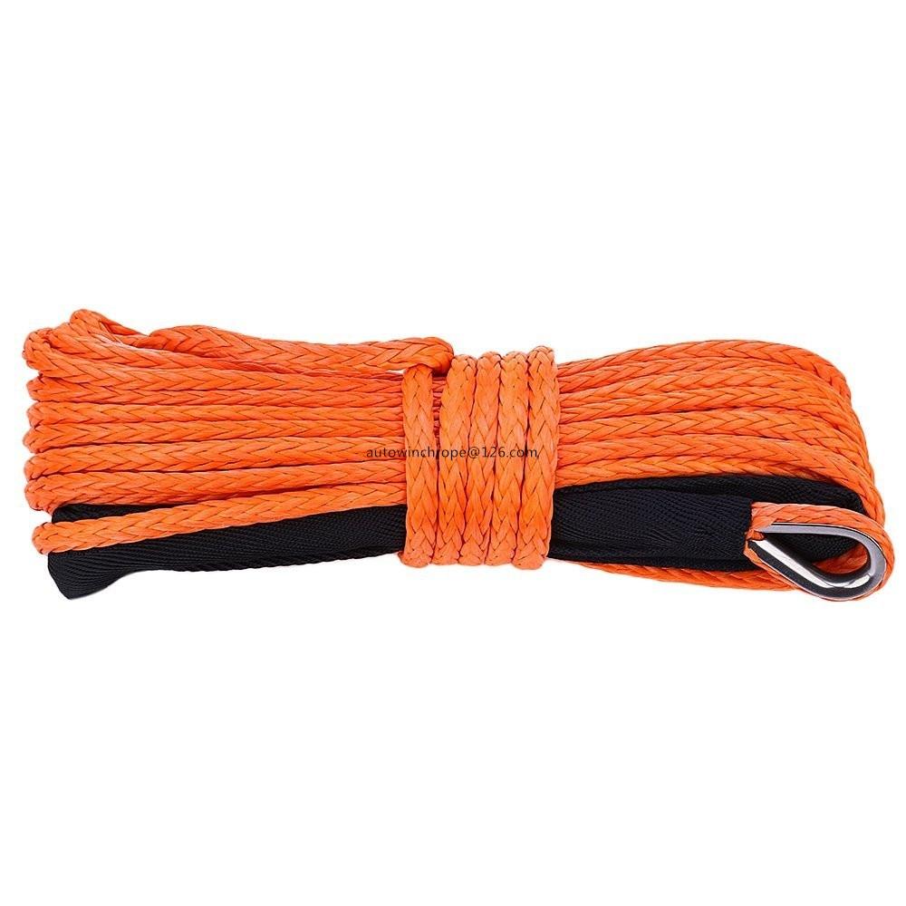 Livraison Gratuite 5mm * 15 m Orange Synthétique Treuil Corde, ATV Treuil Ligne 6mm, 4X4 off-route Repalcement Treuil Câble