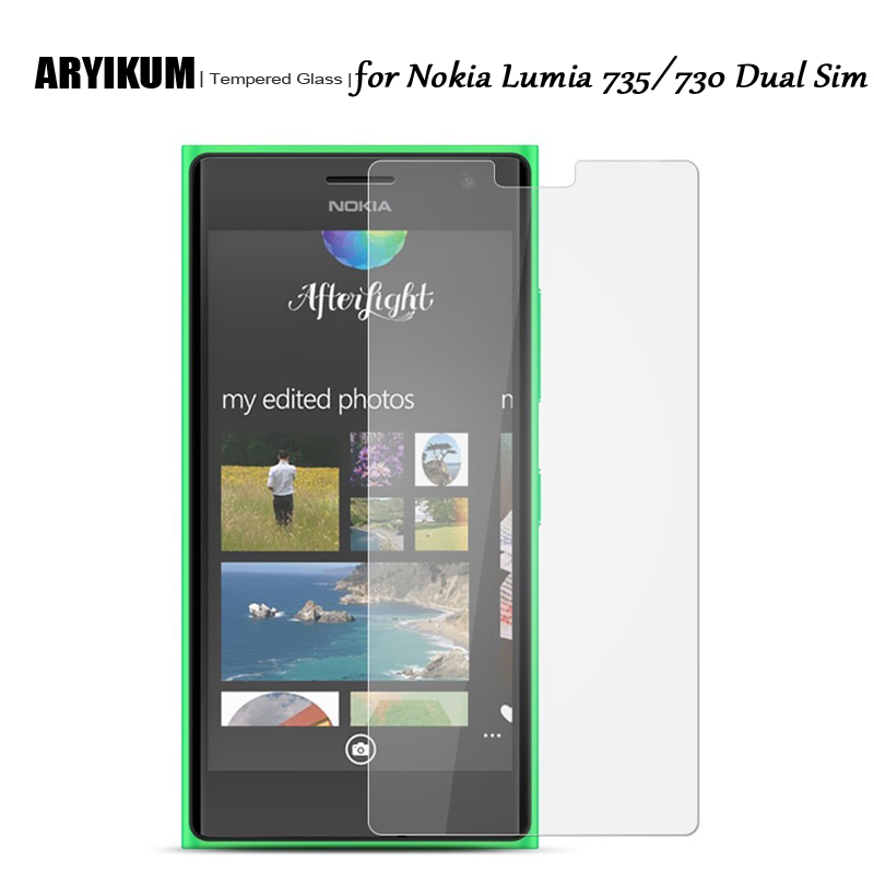 HD 9H 2.5D Tempered Glass for Nokia 730 Screen Protector Phone Front Film For Microsoft Nokia Lumia 735 730 Dual Sim N730 Glass