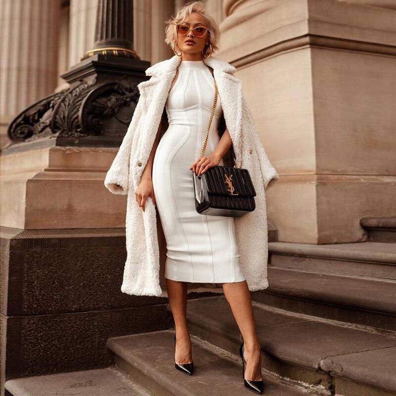 Robes Robe Lady Cou Réservoir Bandage Gosexy White Femmes Indice Nouveau Halter 2019 Partie Sans Moulante Manches 6xwFqpUF