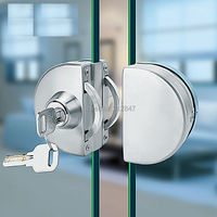 Entry Gate 10-12mm Glas Swing Push Schuifdeurslot w Keys