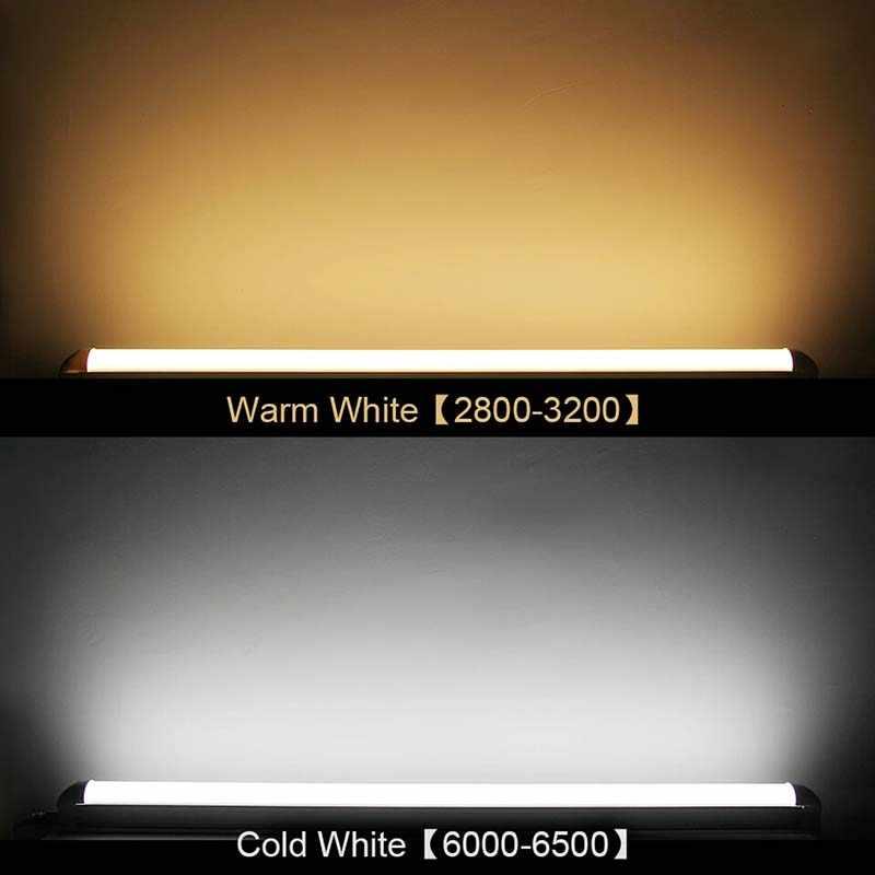 BEYLSION 80 Вт 40 Вт 20 Вт 4 фута 2 фута 1 фута светодиодный очищающий свет, светодиодный трехстойкий камерный софит трубка AC85-265V 110 В 220 В линейная лампа