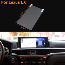Car Styling 8 Inch GPS Navigation Screen Steel Protective Film For Lexus LX Control of LCD Screen Car Sticker