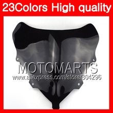 23Colors Windscreen For BMW K1200S 05 06 07 08 K1200 S K1300S K 1200S 2005 2006 2007 2008 Chrome Black Clear Smoke Windshield