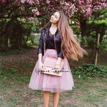 Itao Blogger Recommend! Yuppies Fashion 7 Layers 65cm Long Tulle Skirts Womens Adult Tutu Skirt Lolita Petticoat 2017 Summer