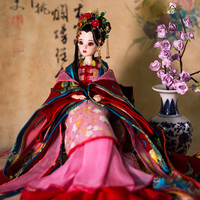 Free Shipping 12 Handmade Traditional Chinese Dolls With Joints Movable Pretty Girl Doll Perfect Girls Toys