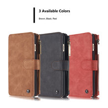 phone case For Apple iPhone 6 6S Plus Case Luxury leather phone Cover Detachable 2-in-1 Wallet Magnet Flip Stent Card slot