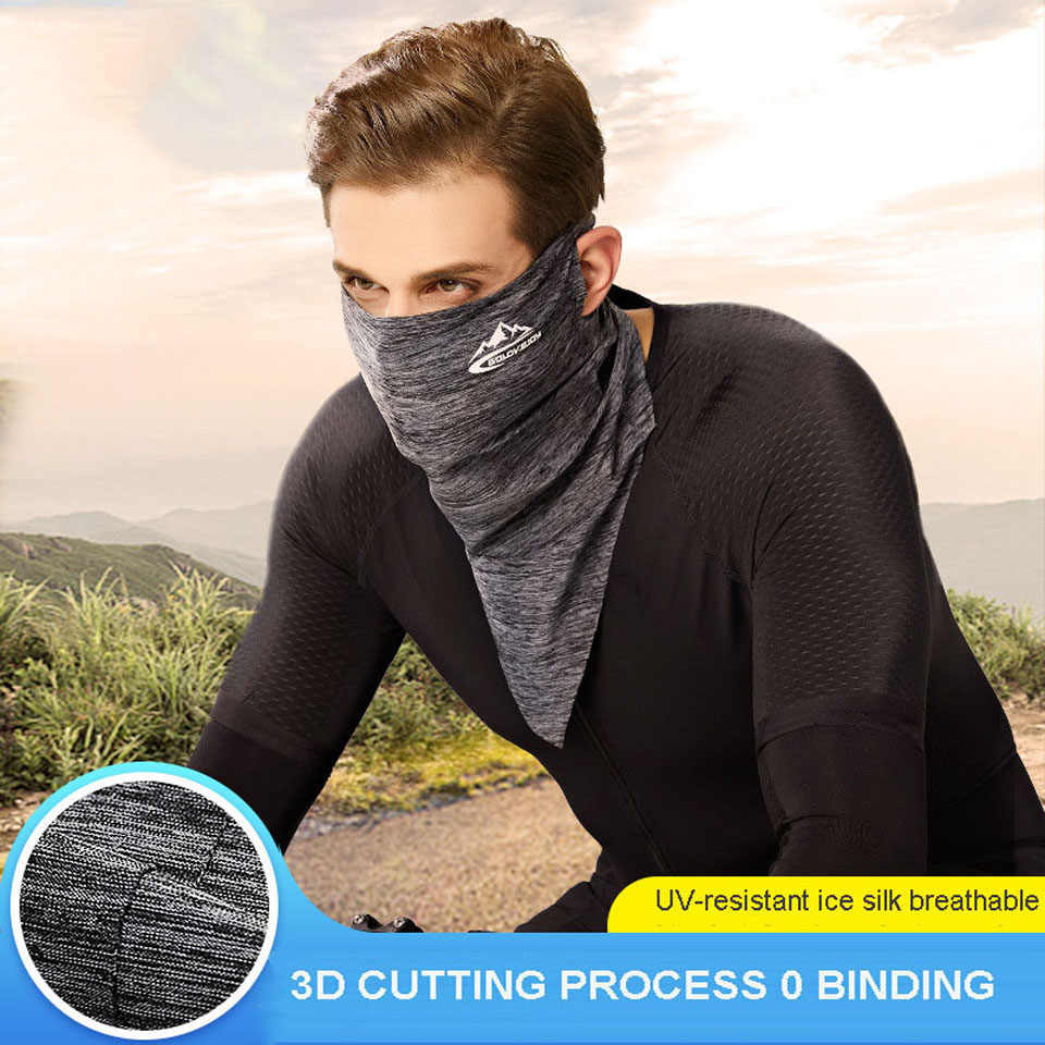 Breathable Summer Bicycle Face Mask UV Protect Anti-sweat Headwear Hiking Cycling Caps Sports Bike Outdoor Face Mask