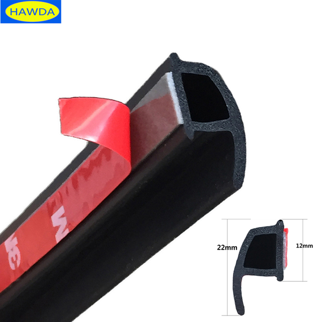 HAWDA P Тип 3 м автомобиля дверное резиновое уплотнение звукоизоляция, автомобиль уплотнительная прокладка для двери уплотнитель отделка края шумоизоляция