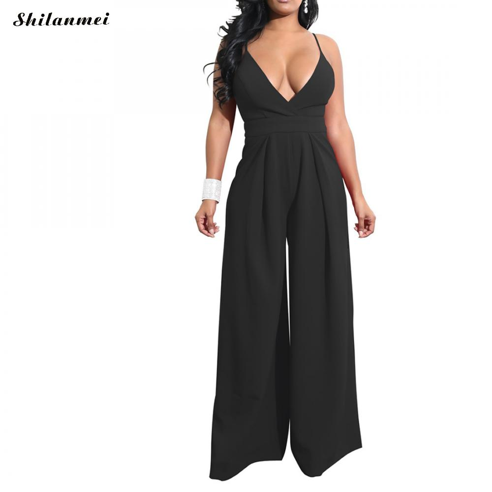 2018 Summer Women Jumpsuit Sexy Back Hollow Rompers Women Fashion Bodycon Combinaison Femme Backless Lace Up Lady Club Overalls