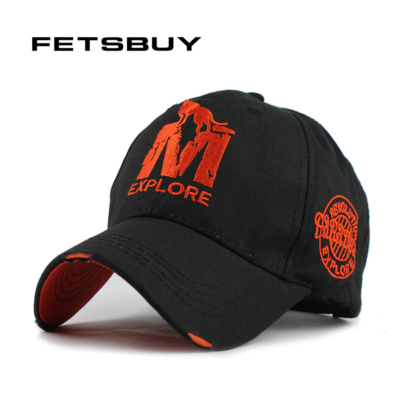 FETSBUY M Baseball Cap Men Cotton hat for Man Women Fitted Adjustable leisure hats men's Flat Gorras Casquette New Wholesale 2016 new new embroidered hold onto your friends casquette polos baseball cap strapback black white pink for men women cap