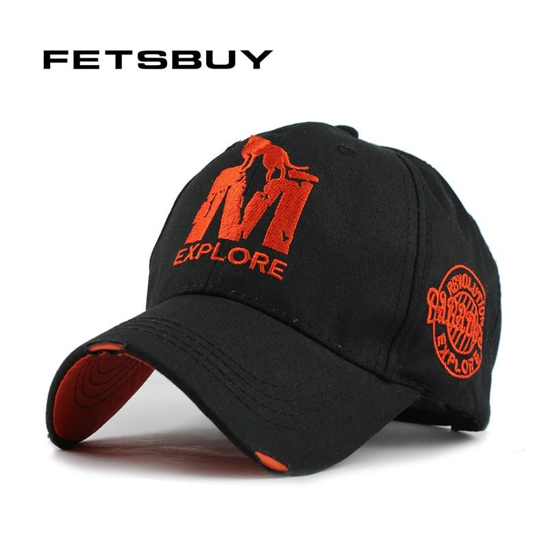 FETSBUY M Baseballmütze Männer Baumwolle hut für Mann Frauen Ausgestattet Einstellbar freizeit hüte männer Flach Gorras Casquette Neue großhandel