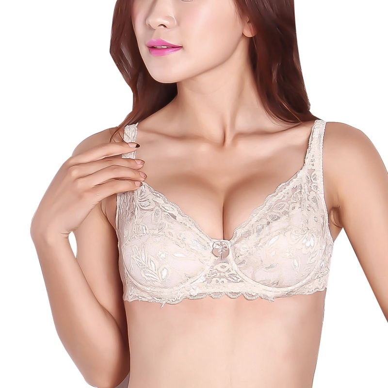Sexy Women Sheer Lace Bra Push Up Bras Underwear Underwire ...