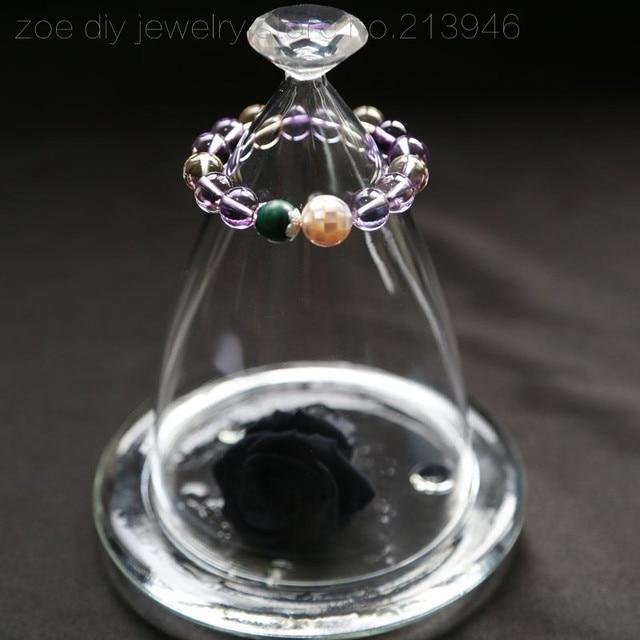 Original Design / Girl of trevi fountain / 925 sterling silver natural ametrine citrine malachite shells women bracelets