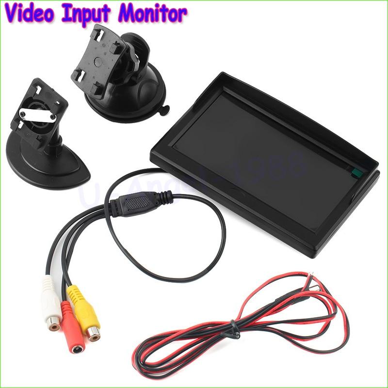 Wholesale 1pcs HD 800*480P 5 TFT LCD Monitor Anti-Sunshine 2ch Video Input Monitor Dropship автомобильный монитор 5 480 272 hd tft