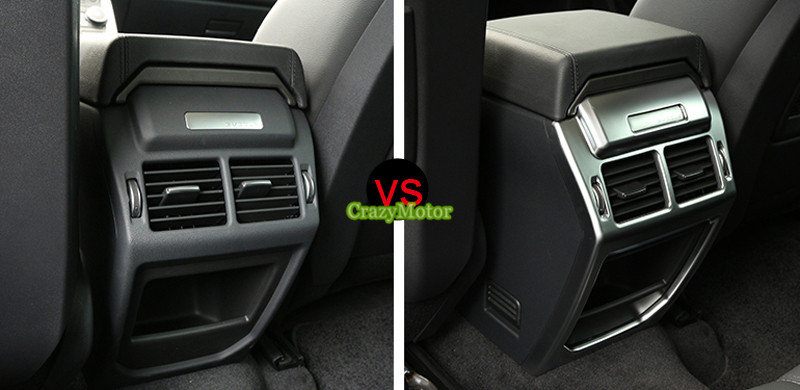 ФОТО 1pcs Rear armrest box decoration cover trim For Land Rover Range Rover Evoque 2011-2016