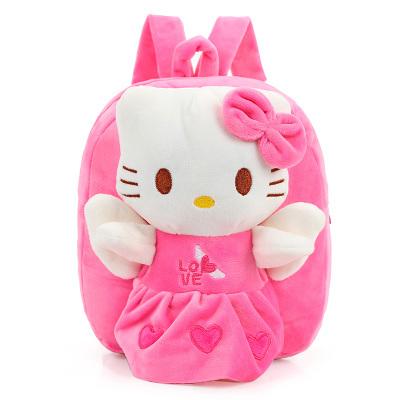 Candice guo plush toy stuffed boneca do anjo dos desenhos animados asa coração olá kitty cat crianças Satchel mochila Bolsa de ombro pacote de saco de presente