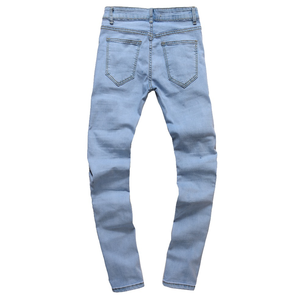 2018 New Brand Mens Jeans Trendy Stretch Blue Grey Denim Men Slim Fit Jeans Trousers Pants Male Skinny Jeans