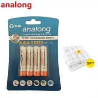 Original 4 Uds Bateria AAA baterías NI-MH 1000mAh baja descarga automática aaa batería recargable 3A bateria para control remoto