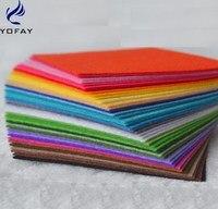 YOFAY высокое качество смесь цветов нетканые войлока 1 мм Толщина ткань полиэстер Войлок DIY Комплект для шитья кукол ремесла 40 шт.