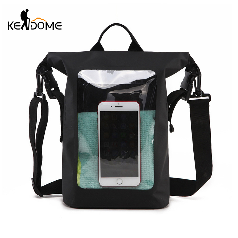 Swimming Bag Outdoor Sports Waterproof Bag Beach Bag Dry & Wet PVC Transparent Waist Packs Underwater Pouch Cell Phone XA383WD