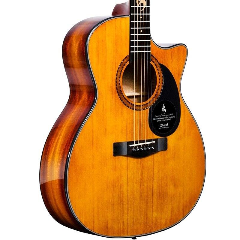 40 дюймов Ель твердая верхняя Акустическая гитара 41 дюймов GA D народная guiar твердая верхняя деревянная гитара с пикапом гриф гитара безопасны