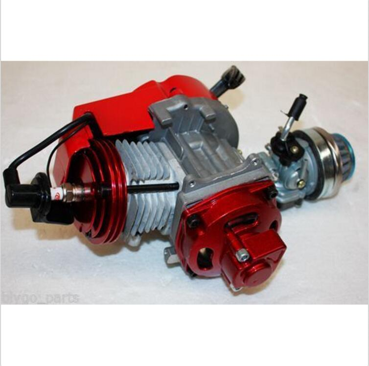 Performance Racing Red 49cc 2 stroke Engine Motor Mini Pocket Quad Dirt Bike ATV 49cc 2 stroke pull start engine motor mini for pocket pit quad dirt bike atv buggy