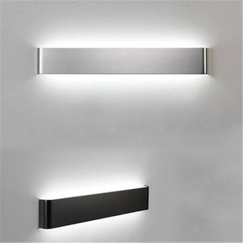 Nowoczesne minimalistyczne lampy LED lampa aluminiowa lampka nocna kinkiet pokoju łazienka lustro światło bezpośrednie kreatywnych przejściach i korytarzach tanie i dobre opinie Kinkiety Żarówki led Do montażu na ścianie 90-260 v ROHS Aluminium Black W górę iw dół iron 2 Years Galwanicznie