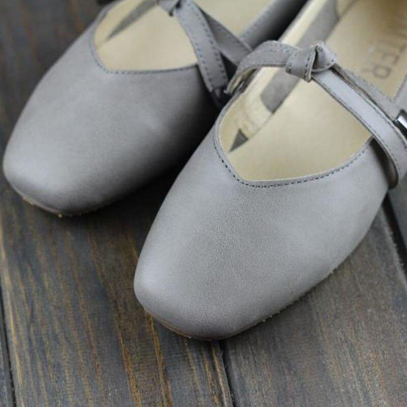Carré Slip Chaussures 2Black Ballerines En Femelle3068 Plat Mocassins Noir Femme Sur Cuir Dames Toe L grey 100Véritable ONn8wPk0X