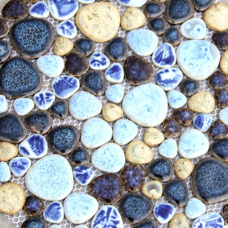 Fashion irregular pebble porcelain mosaic tile kitchen for Tile fashion