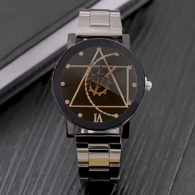 Original brand Luxury Stainless steel Casual quartz watch men women Lovers Coupl