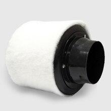 Purificateur dair avec filtre en carbone de 4 pouces, pré filtre pour ventilateur en ligne, culture hydroponique intérieure, vert, jardinage, Ventilation, 100mm