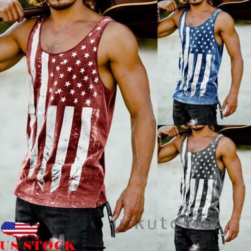 Tank     Top   Men Sleeveless Gym   Tank     Top   Bodybuilding   Tank     Tops   Casual Sleeveless Shirt American Flag Printed Summer Gym   Tops