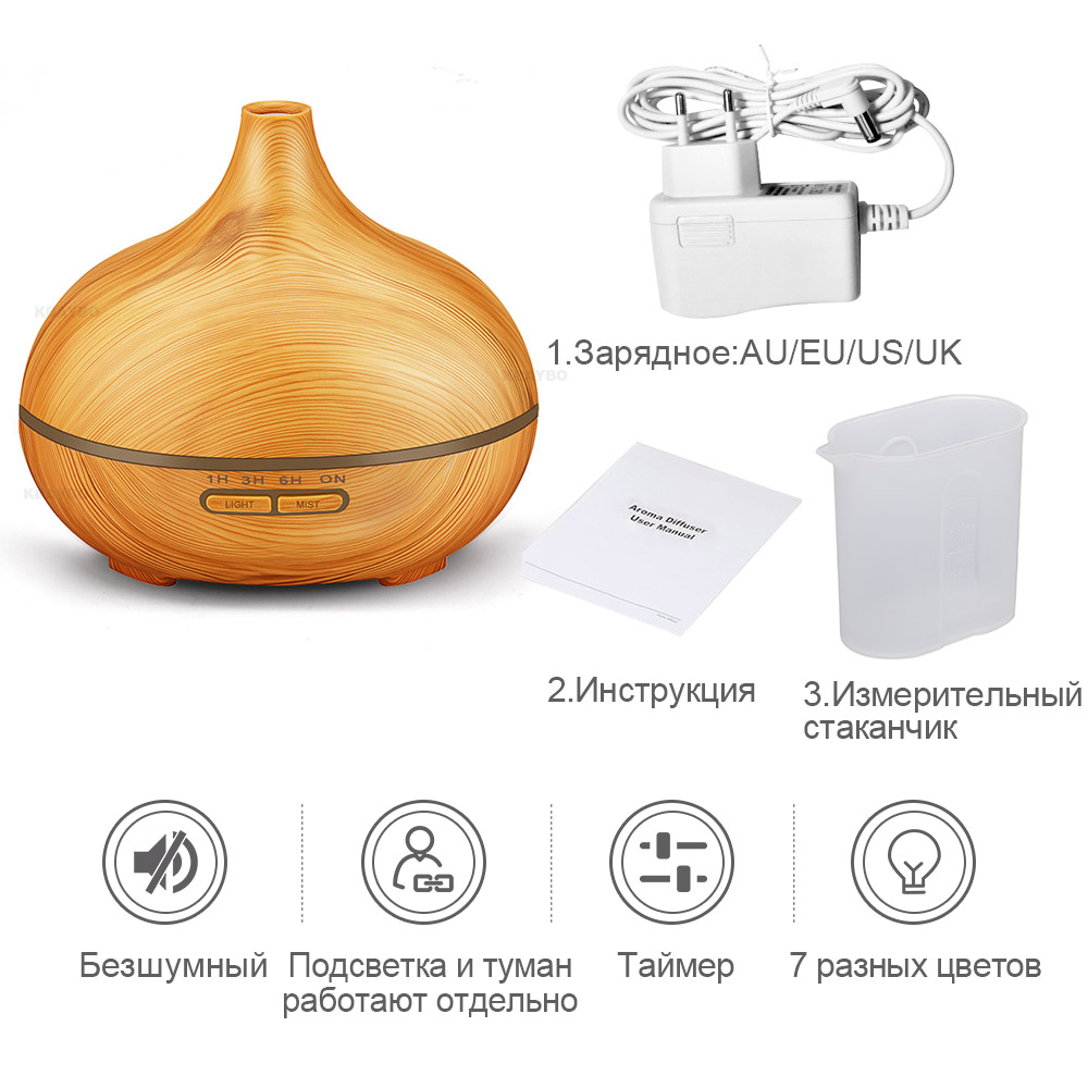 300ml Air Humidifier Essential Oil Diffuser Aroma Lamp Aromatherapy Electric Aroma Diffuser ultrasonic humidifier in Humidifiers from Home Appliances