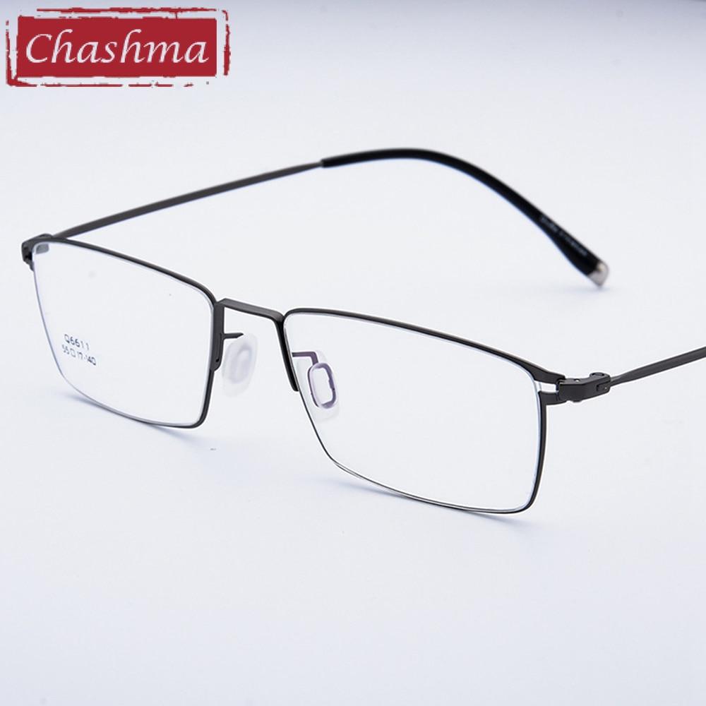 9a679eb84656b Chashma Marca Liga De Titânio Óculos Ultra Light Vidros do Olho Óptico óculos  Quadros Homens Óculos