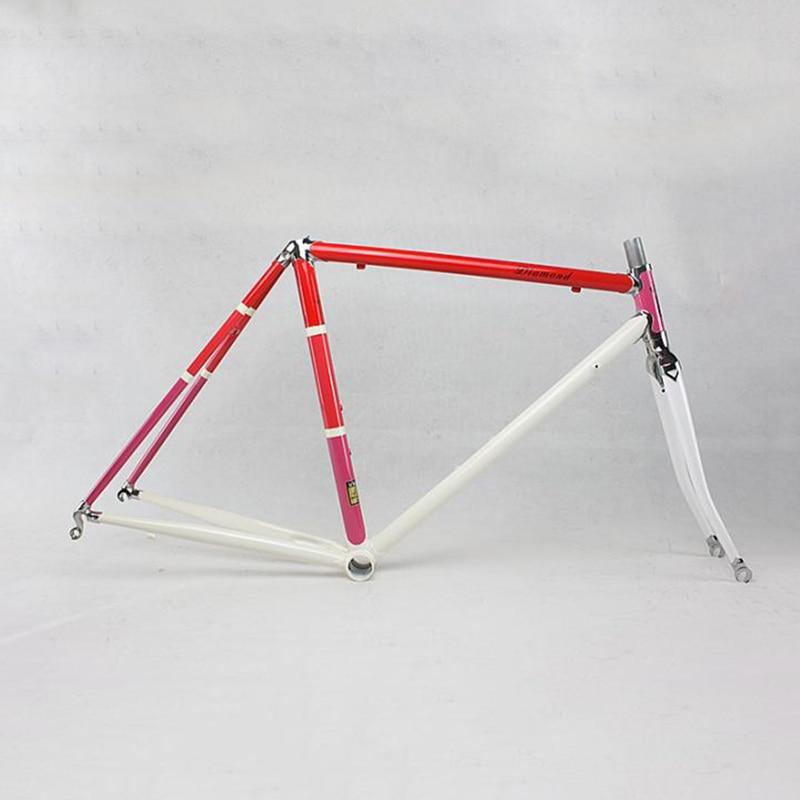 Reynolds Chrome molybdenum steel road Bike frame DIY  frame fixie bike frame 700 C  525 tube  48 cm 50 cm 52 cm 54 cm   56cm chrome vanadium steel ratchet combination spanner wrench 9mm