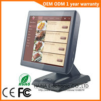 15 Inch With Customer Display Touch Screen POS System Electronic Gas Station Cash Register Machine