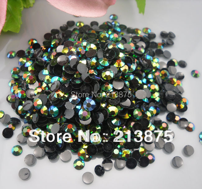 Wholesale large quantity 100000pcs Olive green Magic color AB jelly 3mm resin rhinestones Mobile stick drill Nail Art SS12 0493#