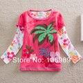 NEAT Nuevas 2016 Chicas manga larga T-shirt niños bordado de la ropa del cordón del bebé ropa de la camiseta del cabrito cothes L $ NUMBER #