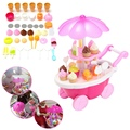 39Pcs/set Electric Candy Ice Cream Car Cart Trolley Flashing Light Musical Kids Toy For Children Role Pretend Playing Toys Gift
