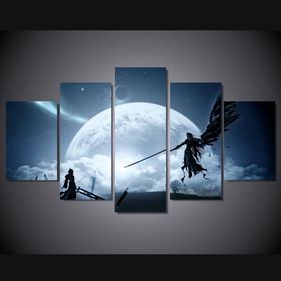 buy final fantasy 7 hot japan anime wall. Black Bedroom Furniture Sets. Home Design Ideas