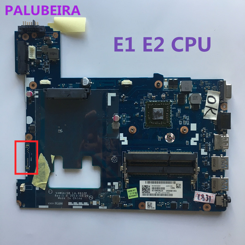 PALUBEIRA Mainboard VAWGA/GB LA-9912P For Lenovo G505 Laptop Motherboard With E1 E2 Cpu On Board DDR3 Full Tested
