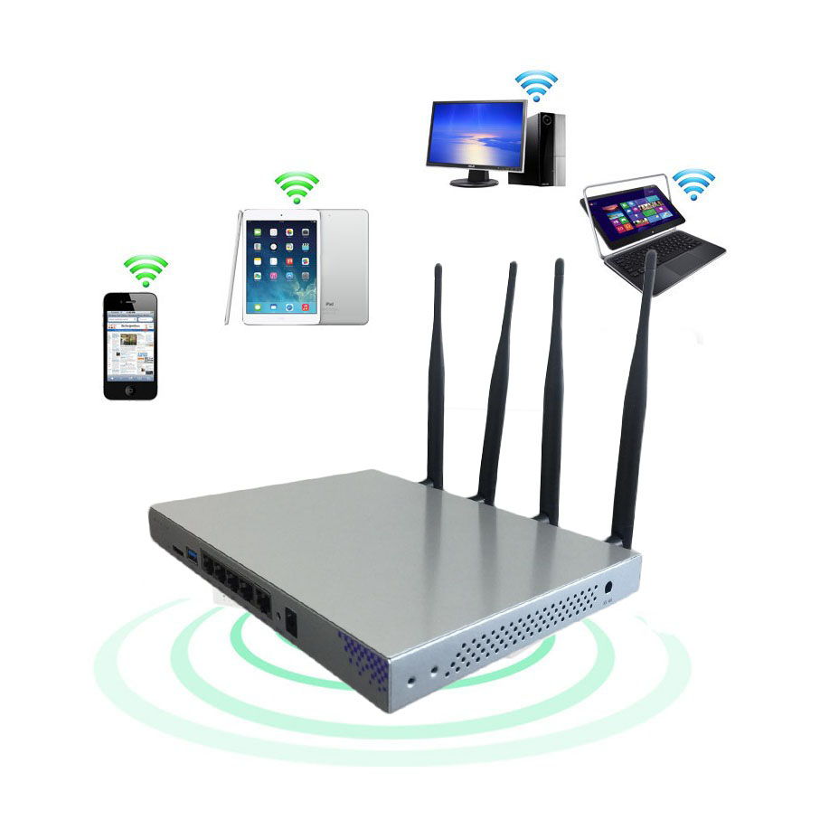 Routeur sans fil OpenWrt 1200 Mbps double bande 802.11AC routeur Gigabit Wifi Chipset MT7621A Ruter antenne 4 * 5dBi Firmware anglais