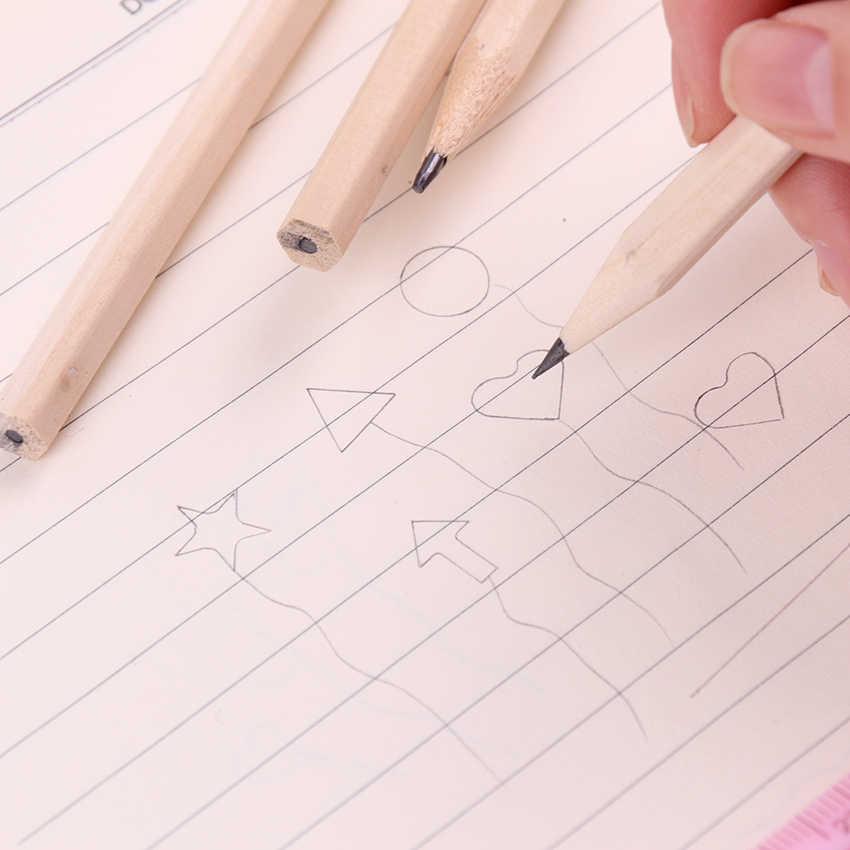 6 pçs lápis de madeira hb em branco hexagonal não tóxico padrão lápis desenho suprimentos bonito lápis escola escritório papelaria