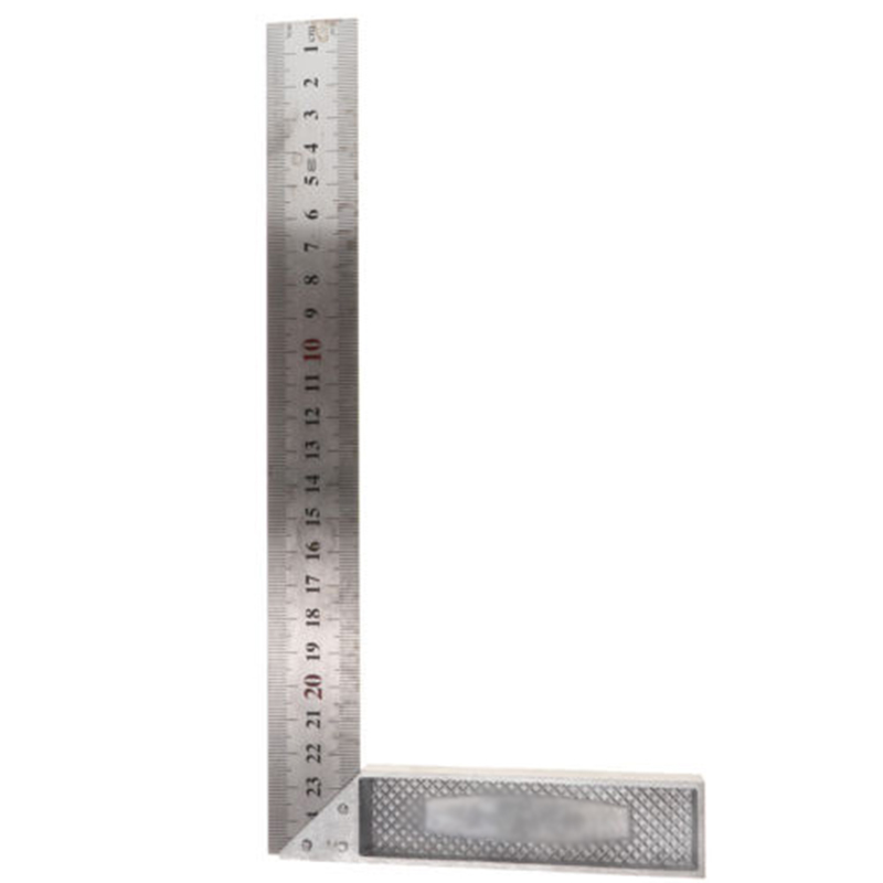 2020 Hot Sale Construction Carpenter Ruler L Shape Angle Square Ruler 250mm-600mm Aluminum Alloy Measuring Tool Rust-proof Ruler