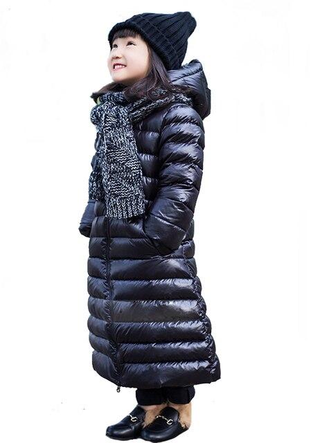 super popular f823c 46364 US $50.23 40% di SCONTO|2 ~ 9Y Giacche Invernali per le Ragazze Anatra  Bianca Giù Cappotto per ragazza Maxi Long Giacca Ragazzi Accendono Outwear  ...